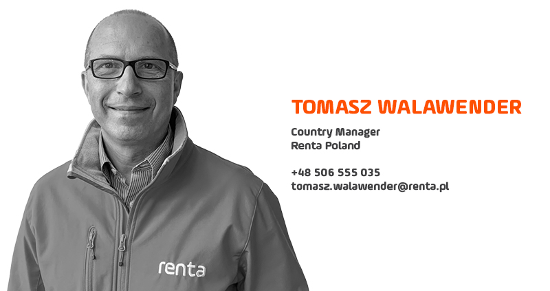 TOMASZ WALAWENDER JOINS TO RENTA